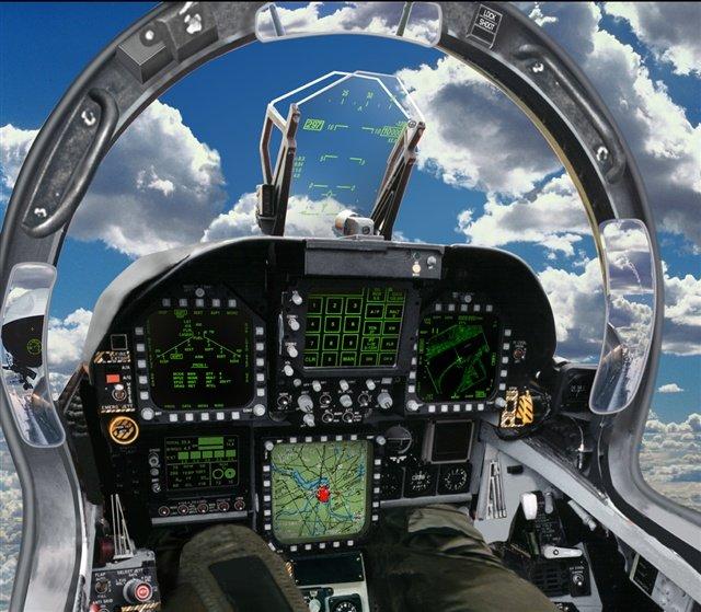 F-18 cabina interior