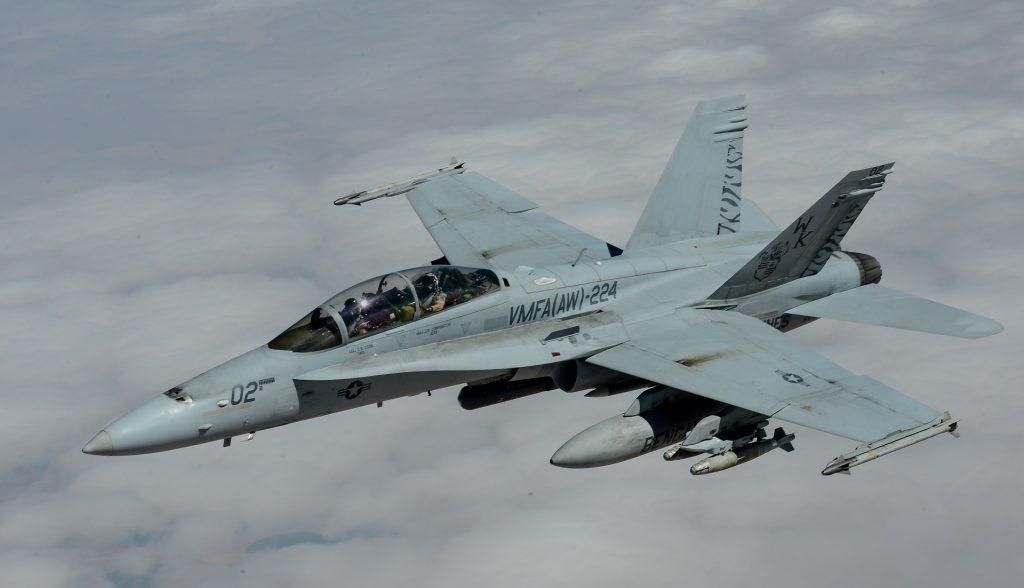 F-18 Misiles y bombas