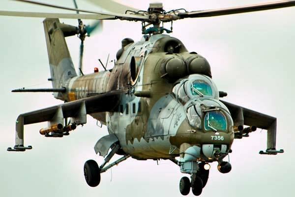 Helicóptero Mil Mi-24 Hind ruso