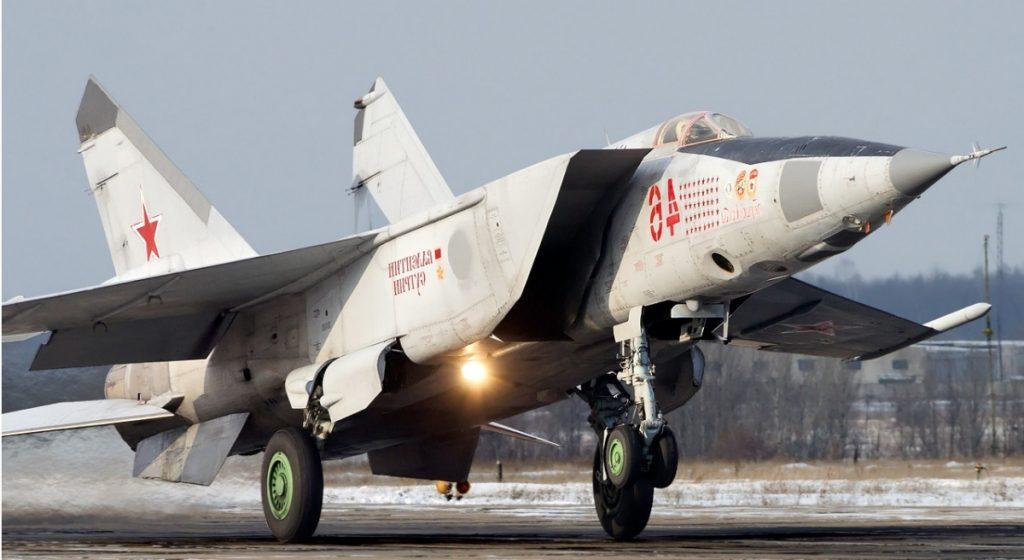 Avión MiG-25 Foxbat - Despegando