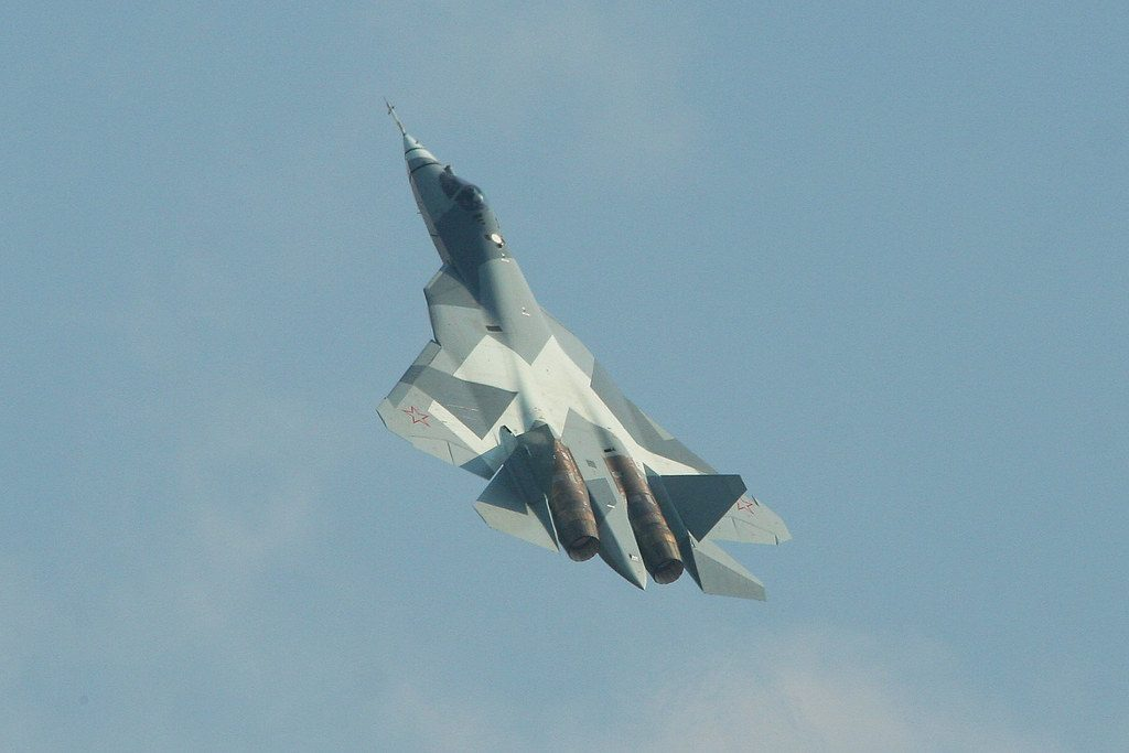 Avión ruso Su-57 invisible