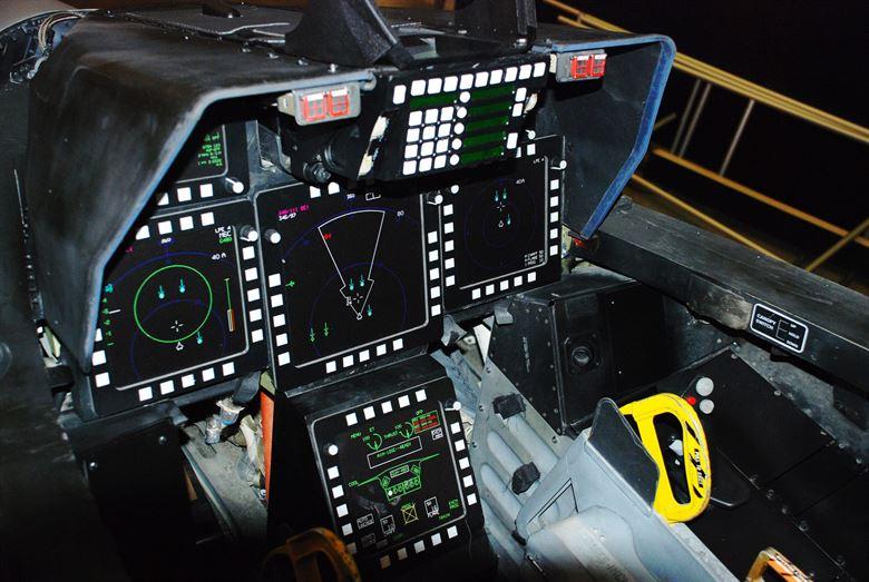 Cabina del piloto del F-22