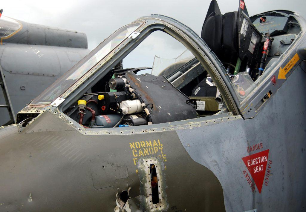 Cabina del piloto del Harrier AV-8