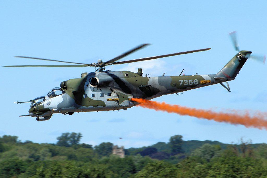 Carga bélica del helicóptero Mil Mi-24 Hind