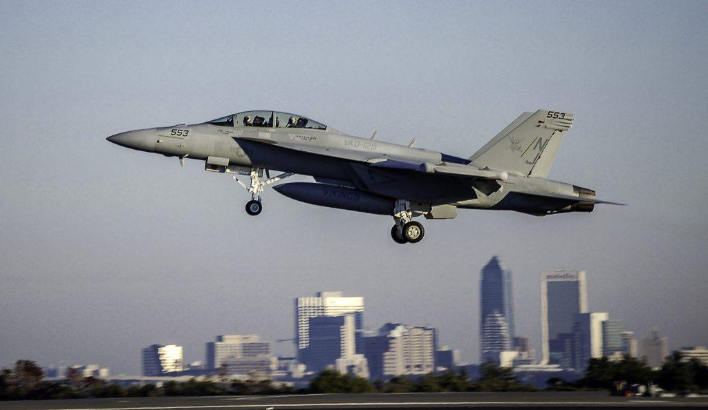Motores del avión F-18