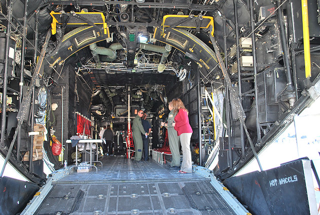 Rampa de carga del avión Hércules
