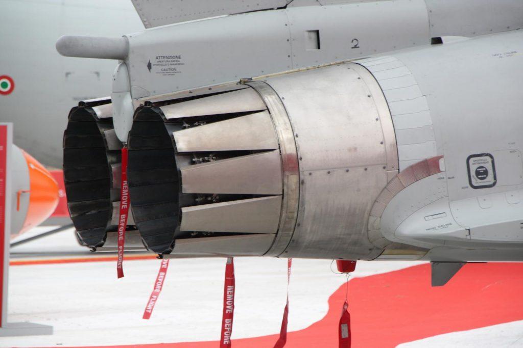 Salida del motor del Eurofighter