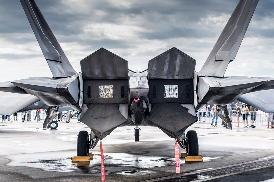 Toberas del motor del Lockheed Martin Raptor