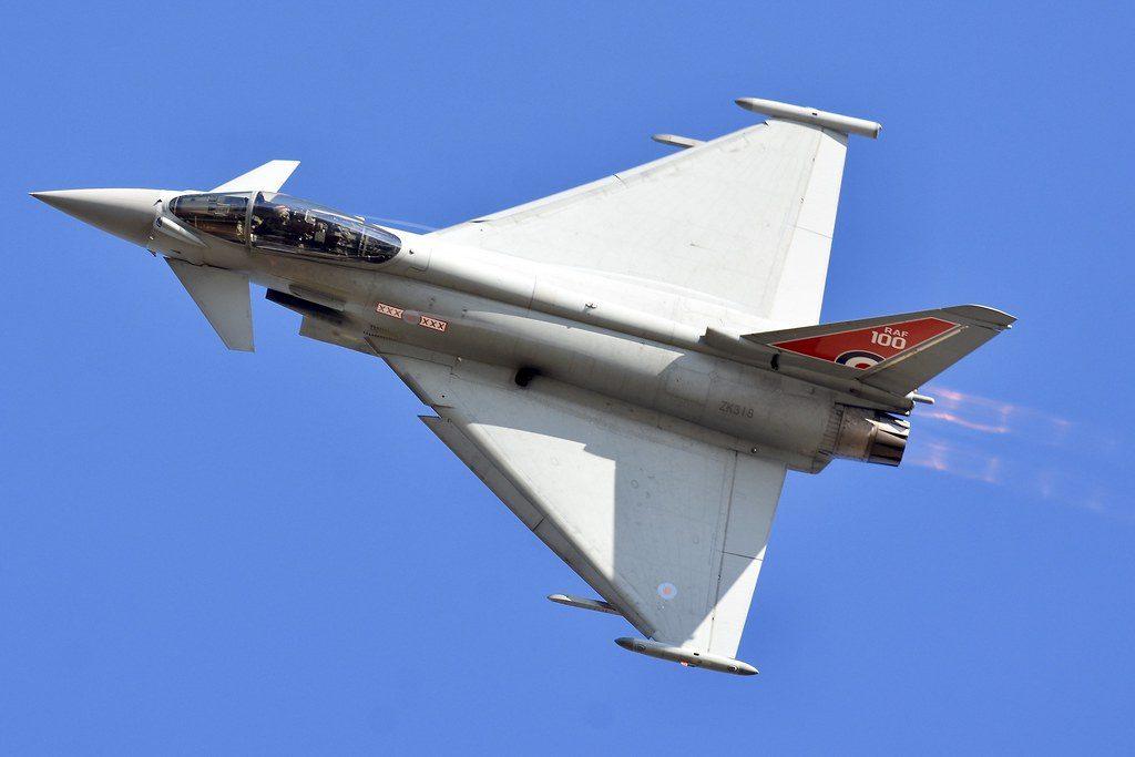 Velocidad del cazabombardero Eurofighter