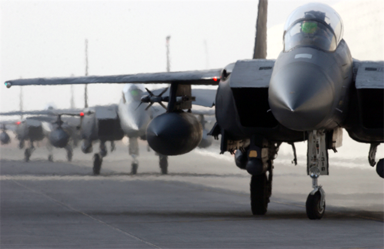 Motores del caza F-15E Strike Eagle